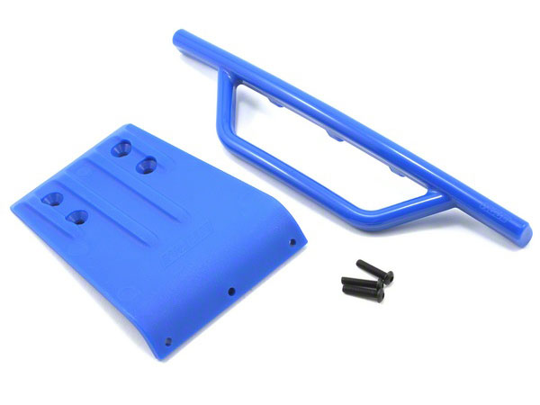 RPM Front Bumper & Gray Skid Plate Set (Blue) Slash 2wd RPM80955