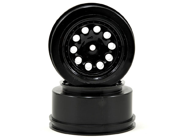 Black Revolver Short Course Wheels for Slash 2WD Rear and Slash 4WD Front or Rear RPM82332