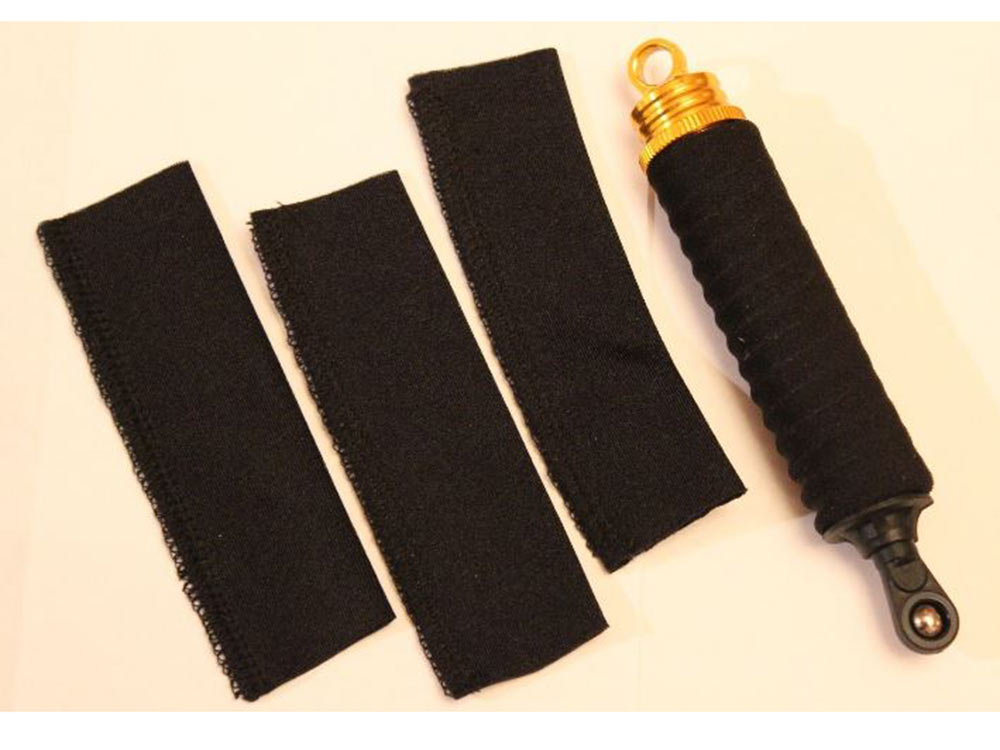 Dusty Motors Universal Shock Covers/ Shock Socks 1/16th to 1/8th Scale - Black SAC0011