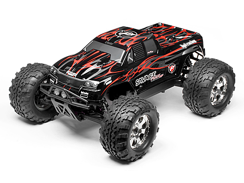 HPI Savage Flux Hp Gt-2 Painted Body (black/grey/red) 102219