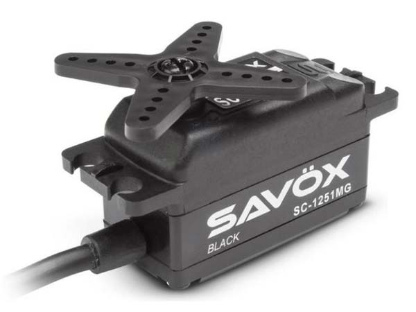 Savox Digital Low Profile Servo 9kg at 6v - Black Edition SAV-SC1251MGB
