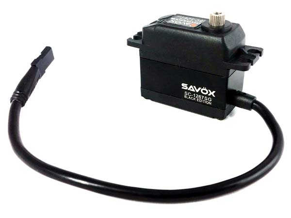 Savox HV STD Digital Servo 21kg at 7.4v - Black Edition SAV-SC1267SGB