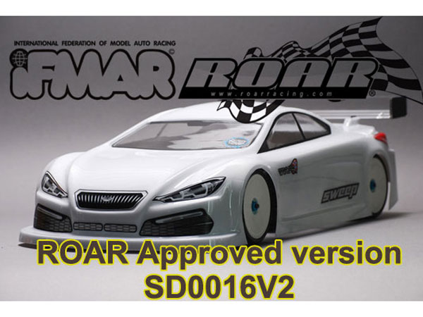 Sweep STC-4 1/10 190mm Touring Car Clear Body Regular W/1mm Thick Wing  SD0016V2R