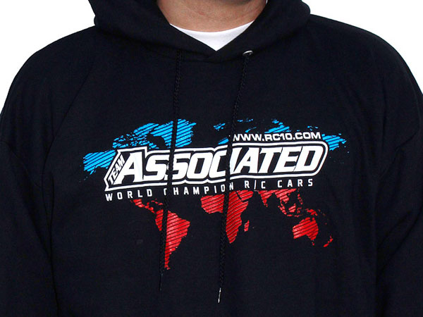 Image Of Associated AE International Hoodie - Black (XXL)
