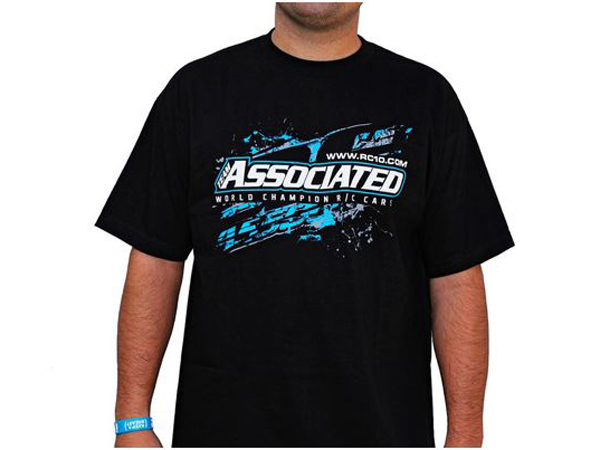 Image Of Associated AE Splash Black T-Shirt - Large