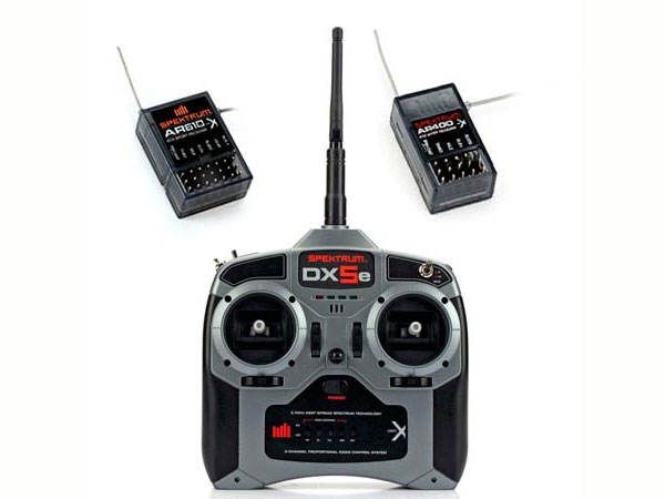 Image Of Spektrum DX5e DSMX 5 Channel TX/RX Combo Mode 2 & Free AR400 Receiver
