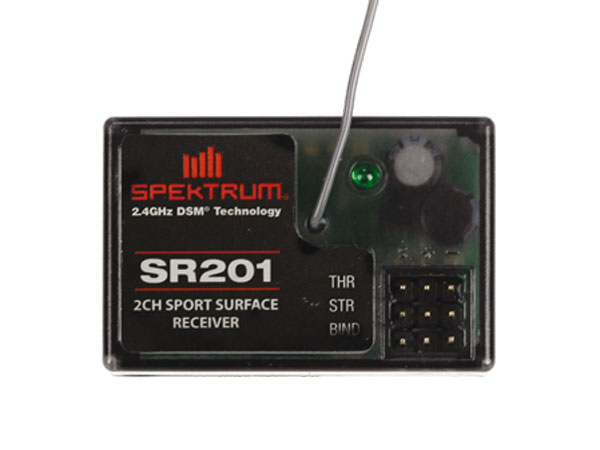 Image Of Spektrum SR201 2 Channel DSM Sport Surface Receiver - Coated