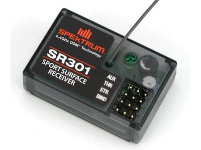 Image Of Spektrum SR301 3 Channel DSM Surface Sport Receiver - Coated