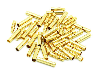 Image Of Simply RC 3mm Bullet Connectors (25M And 25F Bulk Pack)