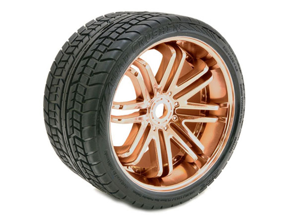 Sweep Road Crusher Belted Tyre Bronze 17mm Wheels 1/4 Offset (pr)  SRC0001Z