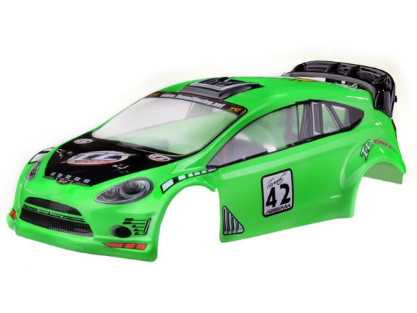 Image Of Team C Rally Body PVC Painted - GT8LE-RA