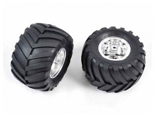 Tamiya Rear Tyres And Wheels (Wild Willy 2) 9805619
