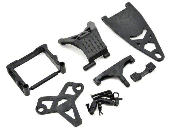 Team Losi Racing 22/22 2.0/22T/SCT Battery Mounts Mid/Rear TLR231014
