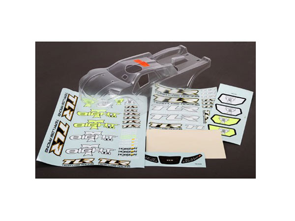 Team Losi Racing Body Set Clear: 8T 3.0 and 4.0 TLR240009