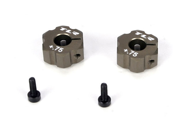 Team Losi Racing 22 +.75mm Width Aluminium Rear Hex TLR2931