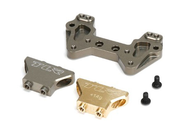 Team Losi Racing Alum MM Rear Camber Tower Brass/Alum: 22/2.0/T/SCT TLR334019