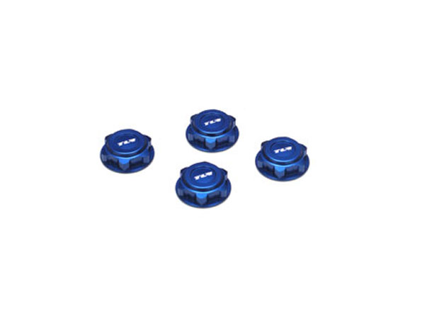 Team Losi Racing Covered 17mm Wheel Nuts, Alum, Blue: 8/T 2.0 TLR3538B
