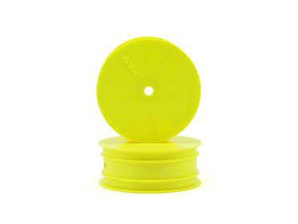 Team Losi Racing Front Wheel, Yellow (2): 22 TLR7001