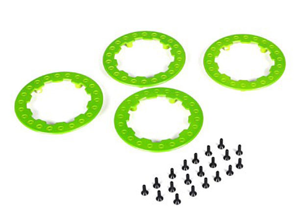 Team Losi Racing SCT/SCB/SCTE Green Beadlock Ring with Screw (4) TLR7030