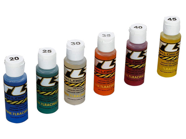 Team Losi Racing Shock Oil 6 pack 20 25 30 35 40 45 2oz Bottle TLR74020