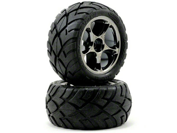 Traxxas Anaconda Tyre with 2.2 Tracer Black-Chrome Wheels 2478A