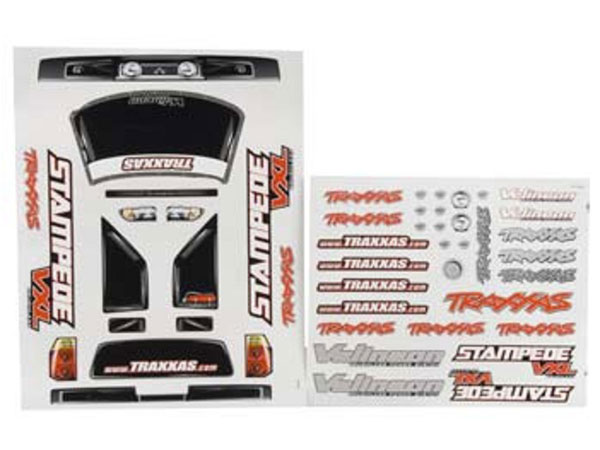 Traxxas Stampede VXL Decal Sheet 3613R