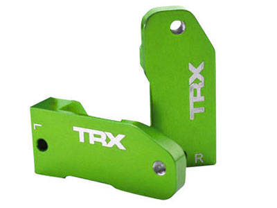 Traxxas Aluminium Caster Blocks 30 Degree (Green) 3632G