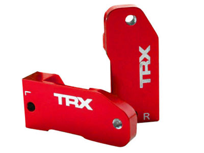 Traxxas Aluminum Caster Blocks - Red 3632X