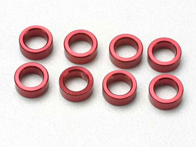 Traxxas Aluminum Red Pushrod Spacer Revo (8) 5133