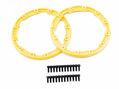Traxxas Sidewall Protector, Beadlock Style (Yellow) (2) 2.5x8mm CS (24) (For Use With Geode Wheels) 5665