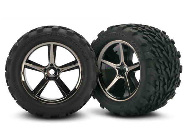 Traxxas Tyres And Wheels Assembled 1/16 E-Revo 7174A