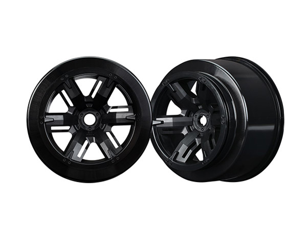 Traxxas X-MAXX Black Wheels (Left and Right) 7771