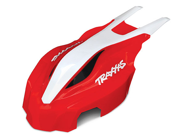 Traxxas Aton Front Canopy - Red/ White 7911