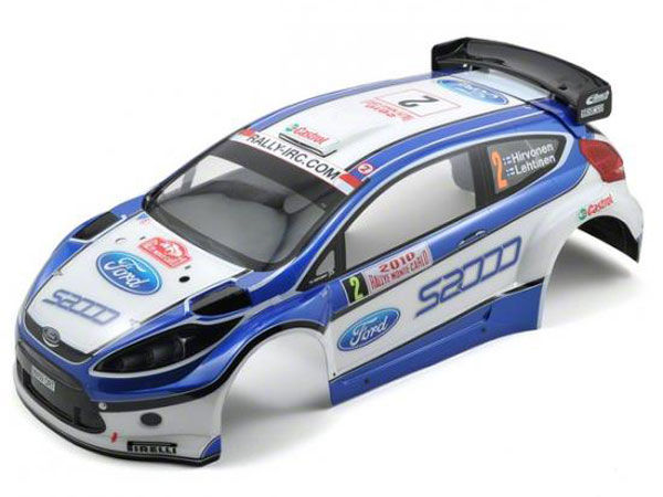 Image Of Kyosho Pre-Painted Ford Fiesta S2000 Rally Body Shell (DRX)