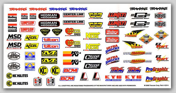 Traxxas decals stickers for rc model car bodyshells body shop bodyshells for radio controlled cars