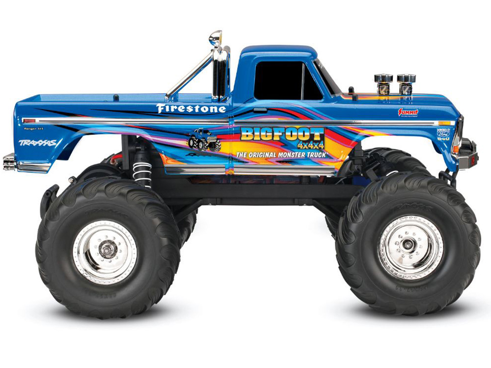 NEW TRAXXAS STAMPEDE ORIGINAL BIGFOOT PAINTED BLUE BODY SHELL /& DECALS ROLL BAR