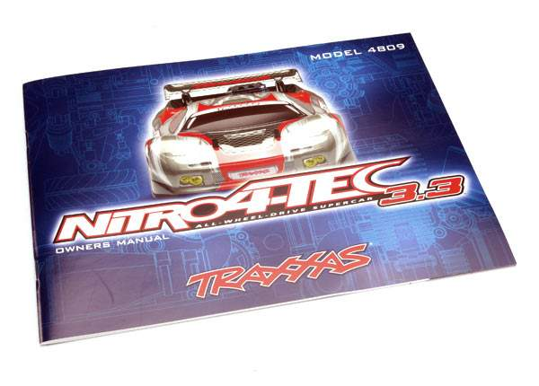 Traxxas Owners manual, Nitro 4Tec (with TRX 3 3 Racing Engine) 4899R