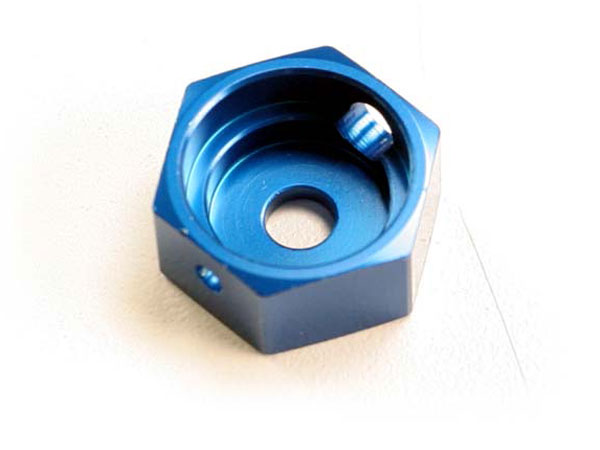 Traxxas Aluminium Brake Hex Adapter (Blue)  5165