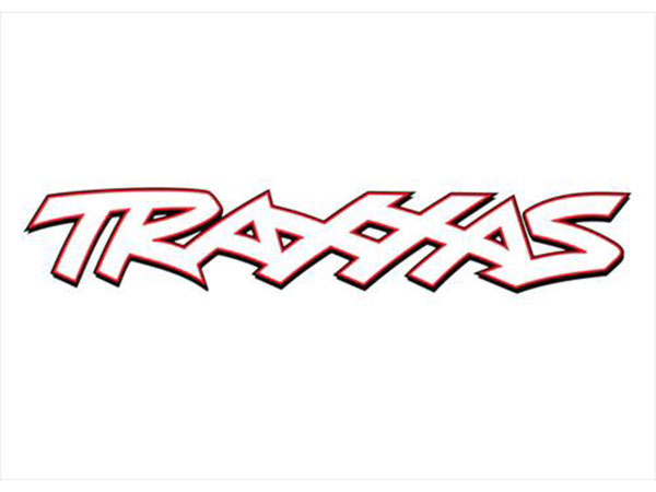 Traxxas 8in White Vinyl Sticker 61661