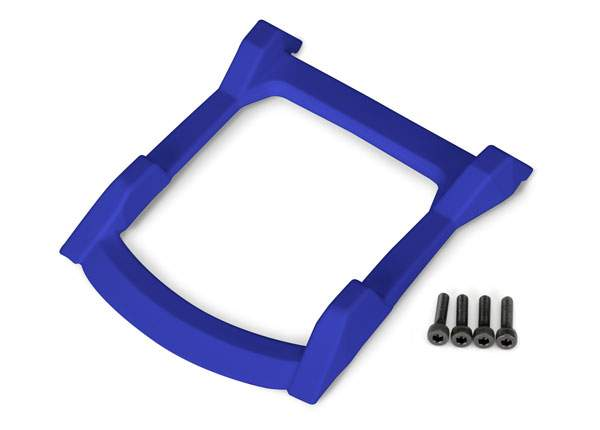 Traxxas Skid plate, roof (body) (blue)/ 3x12mm CS (4) 6728X