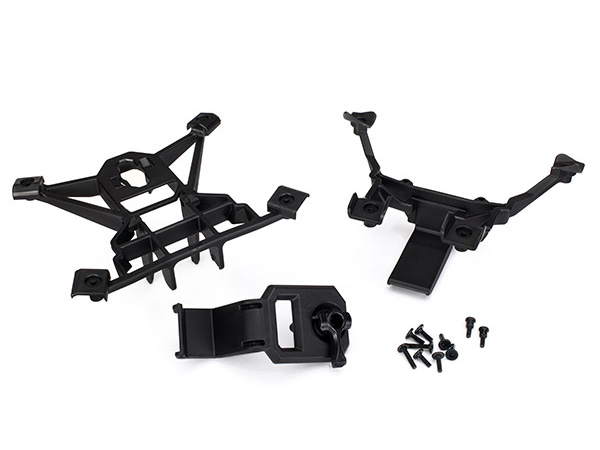 Traxxas X-MAXX Front and Rear Body Mounts with Screws 7715