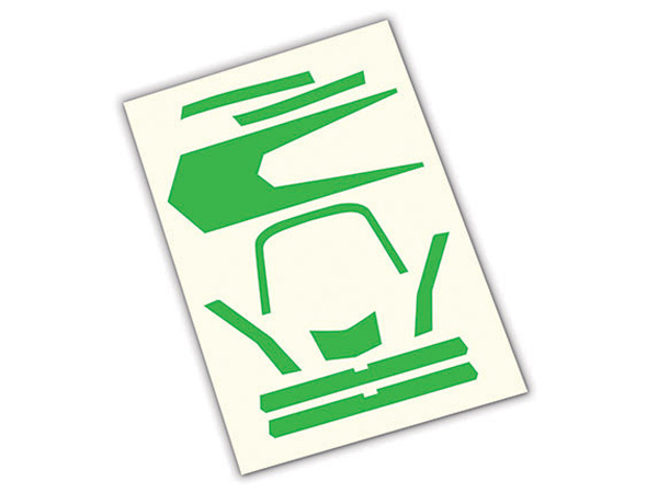 Traxxas Aton High Visibility Decals - Green 7983
