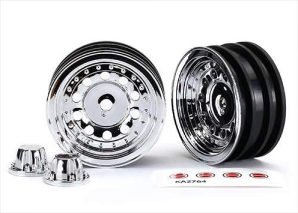 Traxxas TRX-4 Bronco Wheels 1 9, Chrome (2) 8175