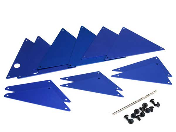 Traxxas UDR Aluminium Tube Chassis Inner Panels (Blue Anodized) 8434X