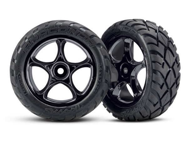 Traxxas Anaconda Tyre with 2.2 Tracer Mirror-Chrome Wheels 2479R