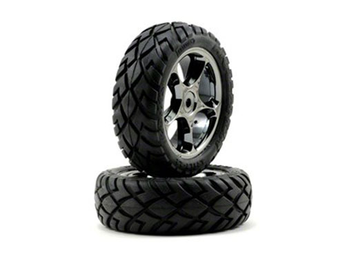 Traxxas Anaconda Tyre with 2.2 Tracer Black-Chrome Wheels 2479A