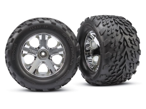 Traxxas Tyres and Wheels, Assembled, Glued 2.8 3668
