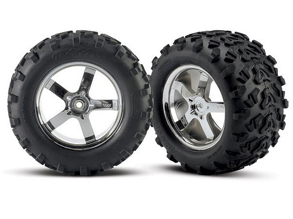 Traxxas New T-Maxx 3.3 Wheel And Tyre Set 4973R