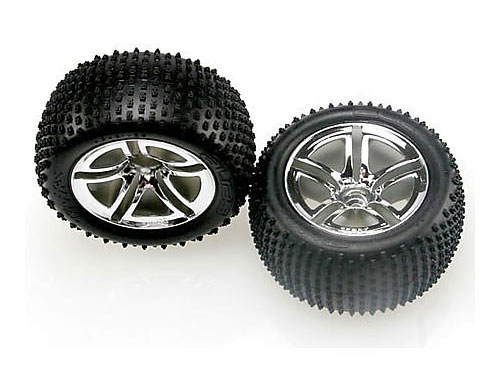 Traxxas Tyres and Wheels Assembled Rear 2.8 5572R