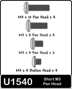 Image Of Schumacher Short M3 Panhead Screws x 8 x 2